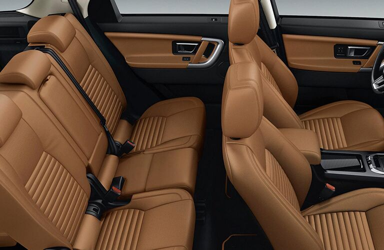 brown leather seats in land rover discovery sport