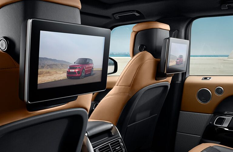 Rear seat entertainment system inside Land Rover Range Rover Sport