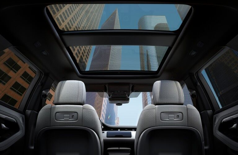 moon roof in the 2020 Land Rover Evoque