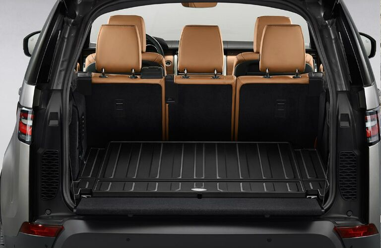 Cargo area in 2020 Land Rover Discovery