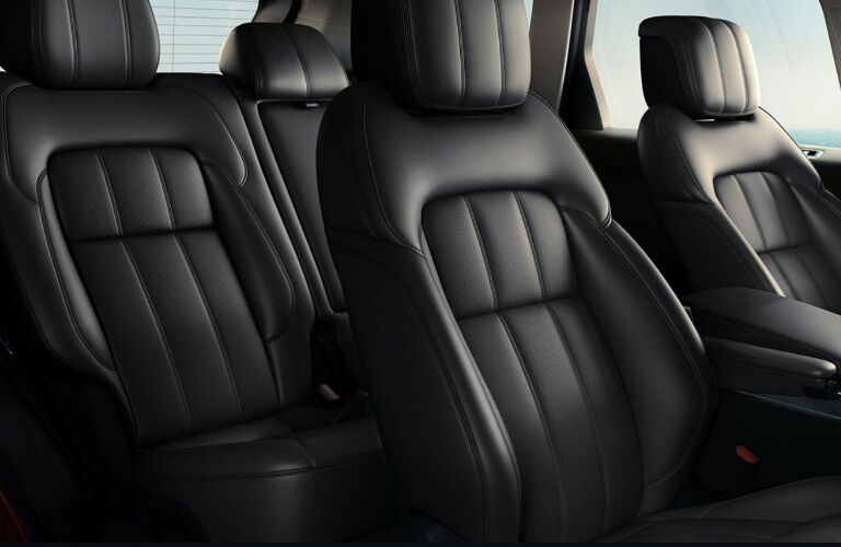 Black seats in 2020 Land Rover Range Rover Sport