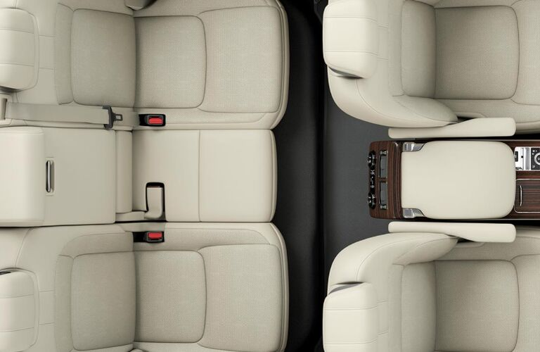 Overhead view of white seats in 2020 Land Rover Range Rover