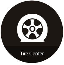 black tire center icon