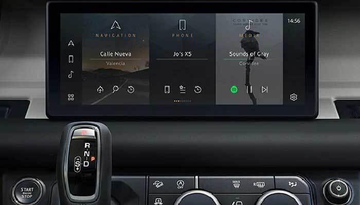 Land Rover Defender information display