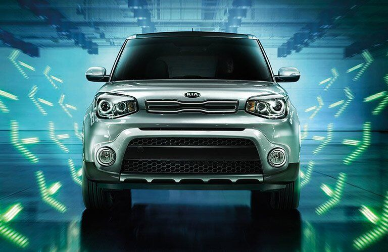 2017 kia soul exterior front view green arrows