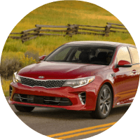 2018 Kia Optima driving in the country