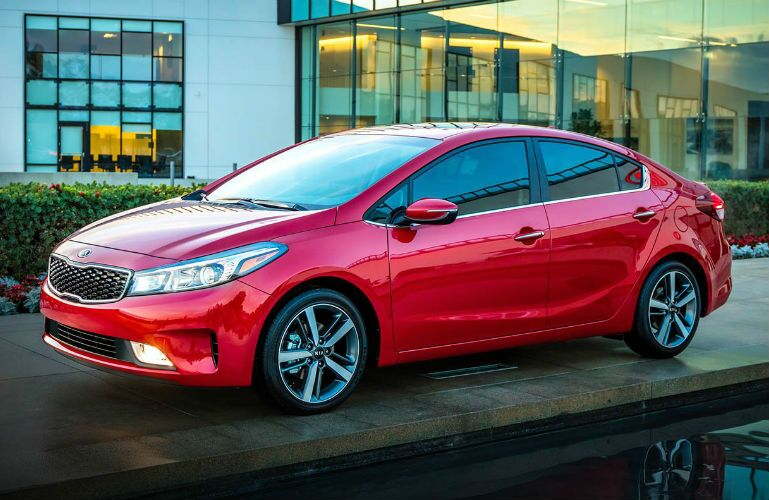 2018 Kia Forte parked at water edge