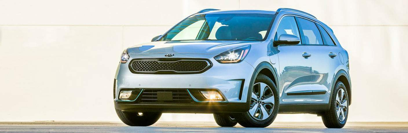 2018 Kia Niro Plug-in Hybrid parked in the glare of the sun
