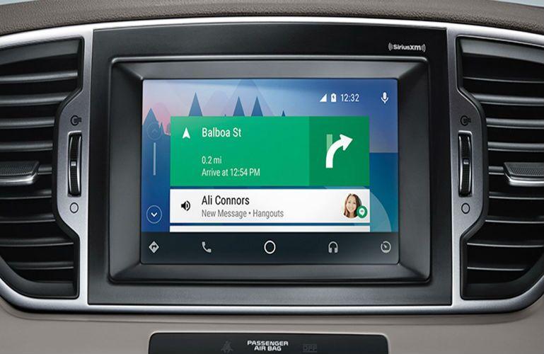 2018 Kia Sportage UVO infotainment system with navigation system