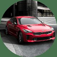 2018 Kia Stinger turning a corner