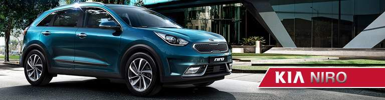 2018 Kia Niro parked in front of a building