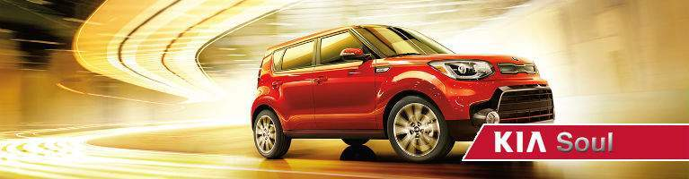 2018 Kia Soul driving in orange setting