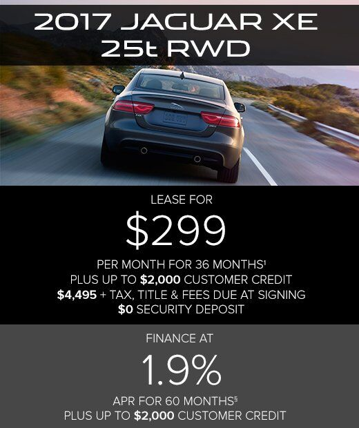 2017 Jaguar XE 25t RWD With 36 Month Lease, $4,495 Due At Signing Includes  $3,401 Down, $0 Security Deposit, $795 Acquisition Fee And First Monthu0027s  Payment, ...
