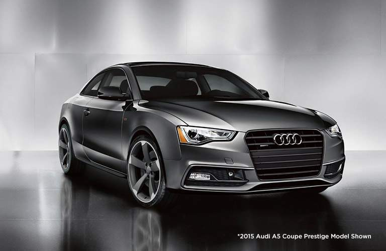 Audi A5 Coupe Exterior View in Gray