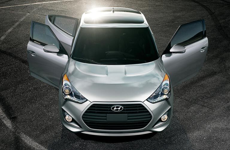 2017 Hyundai Veloster Exterior Aerial View