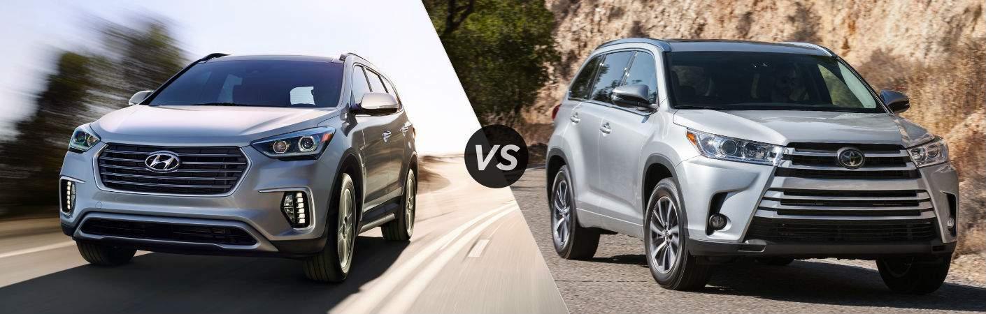 2017 Hyundai Santa Fe vs 2017 Toyota Highlander
