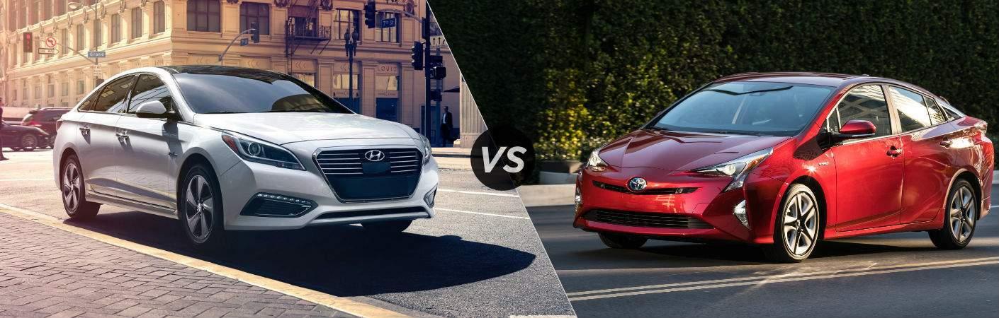 2017 Hyundai Sonata Hybrid vs 2017 Toyota Prius