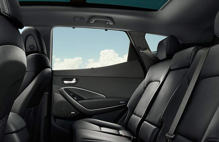 2018 Hyundai Santa Fe Interior Cabin Back Seat