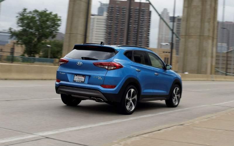 2018 Hyundai Tucson Exterior Rear Profile
