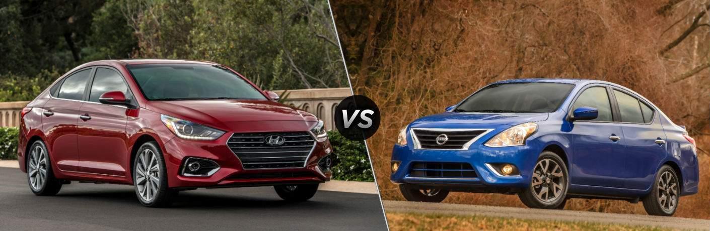 2018 Hyundai Accent vs 2018 Nissan Versa