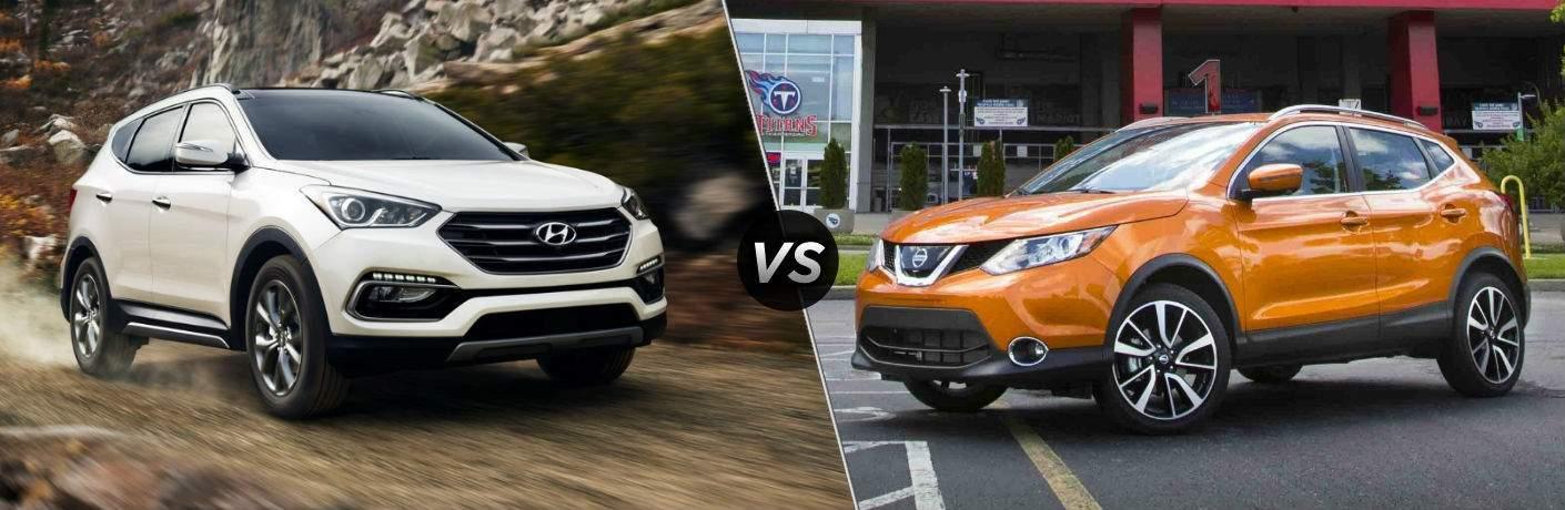 2018 Hyundai Sanata Fe Sport vs 2018 Nissan Rogue Sport