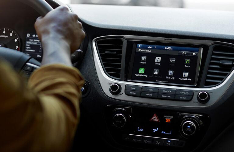 Center touchscreen of 2019 Hyundai Accent