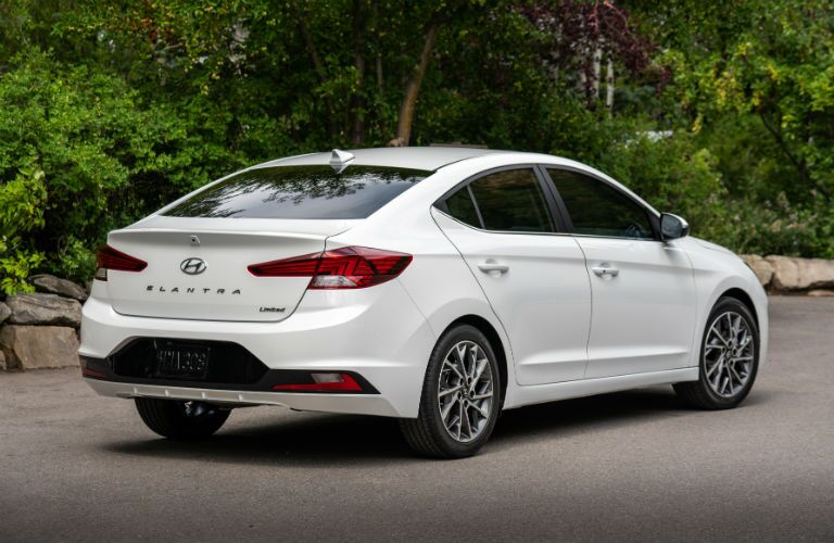 2019 Hyundai Elantra Exterior Passenger Side Rear Profile
