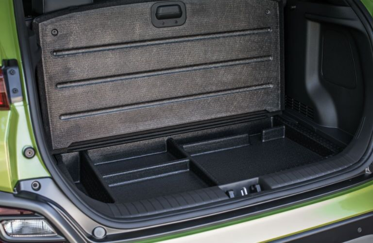 2019 Hyundai Kona Interior Cabin Rear Cargo Hold Secret Compartments