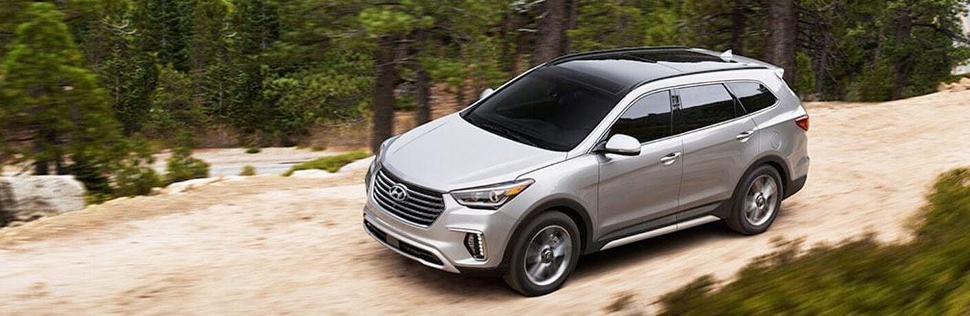 2019 Hyundai Santa Fe XL Exterior Driver Front Aerial Profile