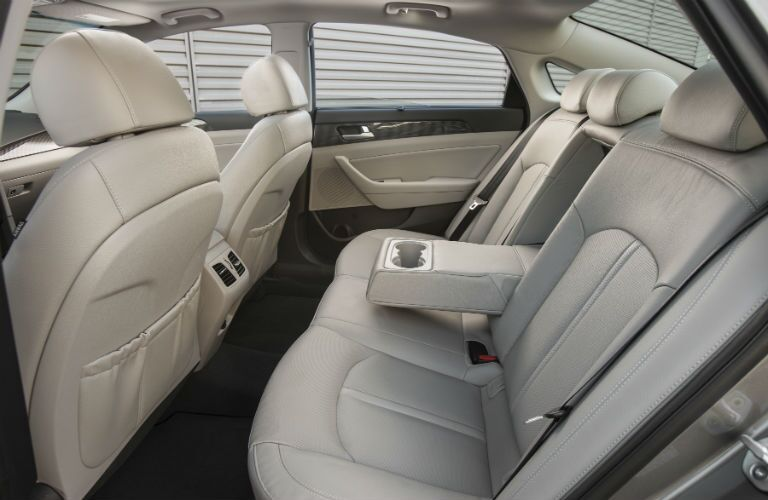 2019 Hyundai Sonata Hybrid Interior Cabin Rear Seating