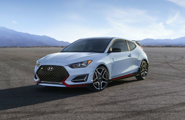 2019 Hyundai Veloster N Exterior Driver Side Front Profile