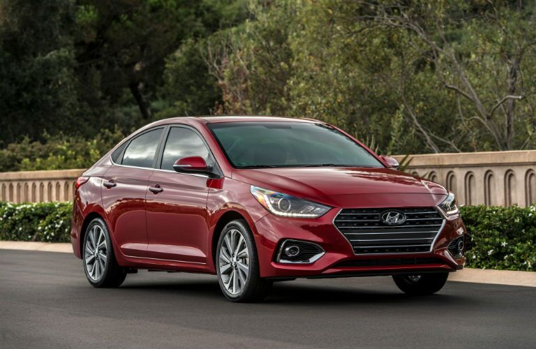 2020 Hyundai Accent Exterior Passenger Side Front Profile