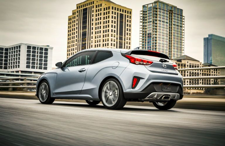 2020 Hyundai Veloster Exterior Driver Side Rear Profile
