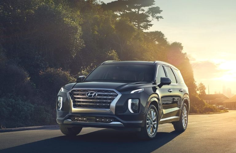 2020 Hyundai Palisade from front drivers side view on road