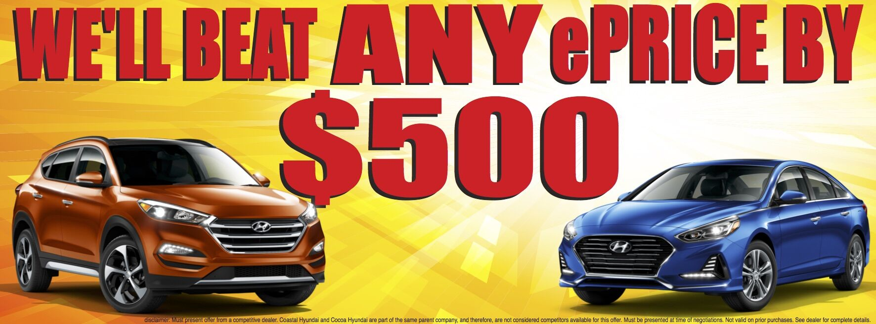 Beat Any Eprice At Cocoa Hyundai Orlando Fl Titusville