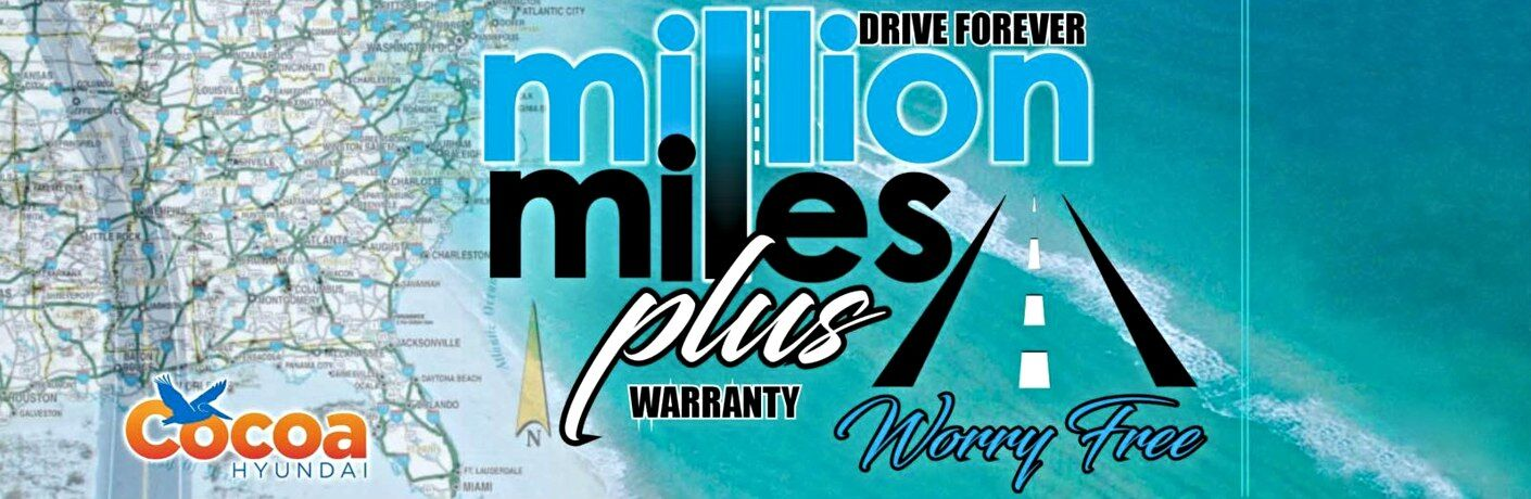 Cocoa Hyundai Million Mile Plus Warranty on oceanic background