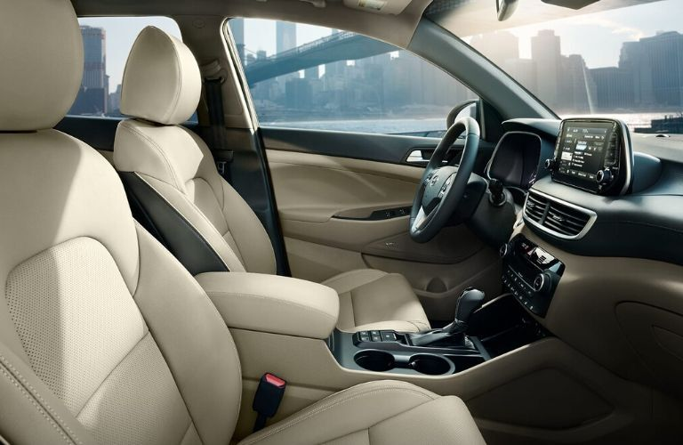 Interior front seat from passenger side 2020 Hyundai Tucson