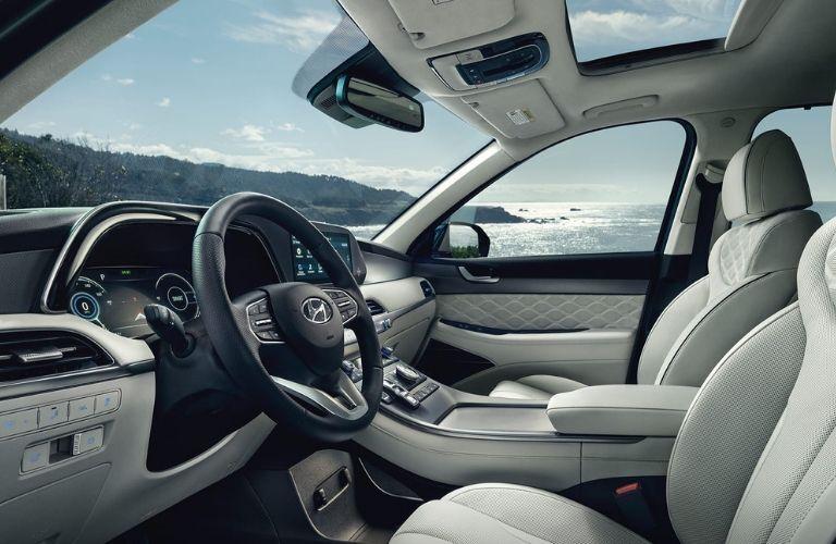 Interior front seats on 2020 Hyundai Palisade