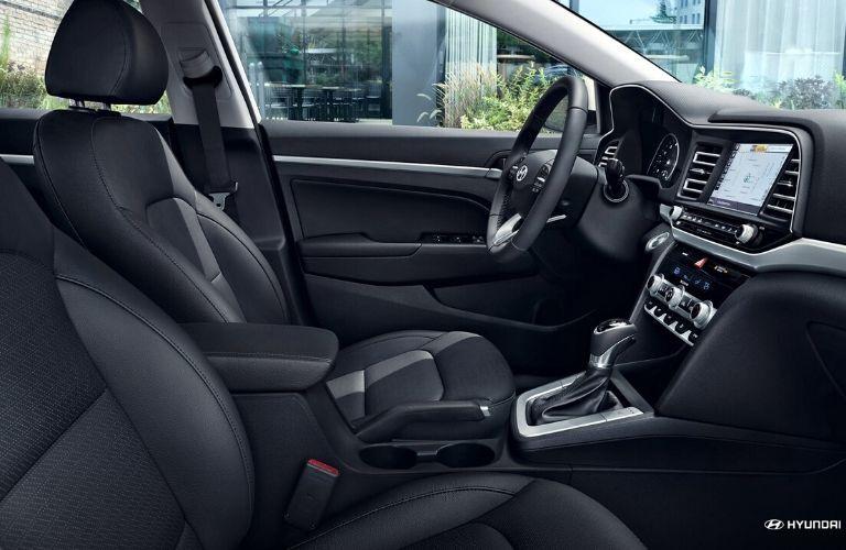 Interior 2020 Hyundai Elantra from passenger seat