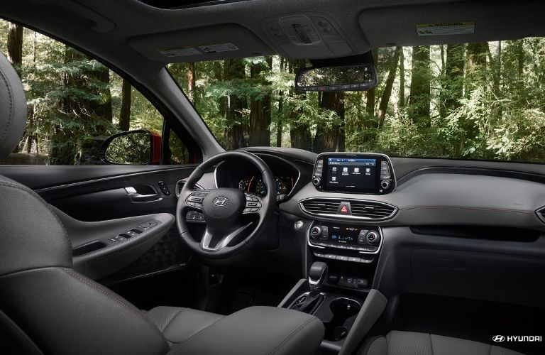 Interior of 2020 Hyundai Santa Fe