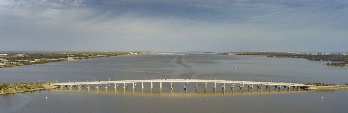 Melbourne Florida bridge wide shot