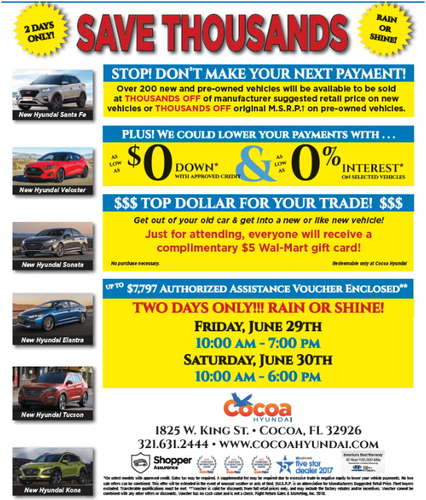 cocoa hyundai savings offer