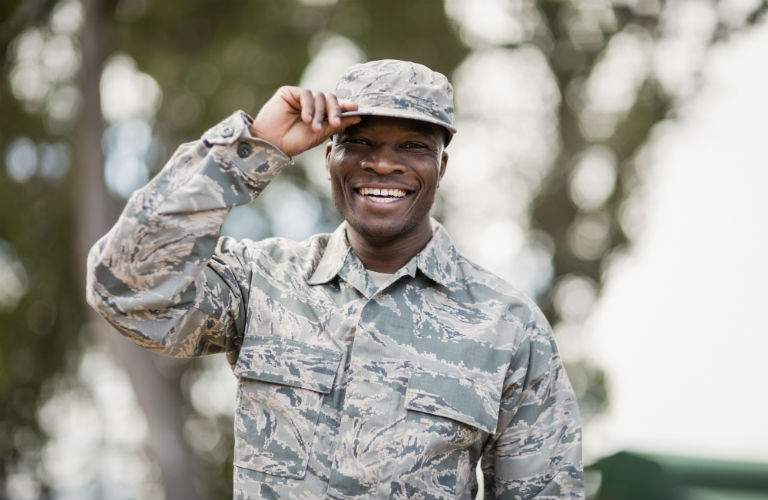 United States Military Soldier Smiling