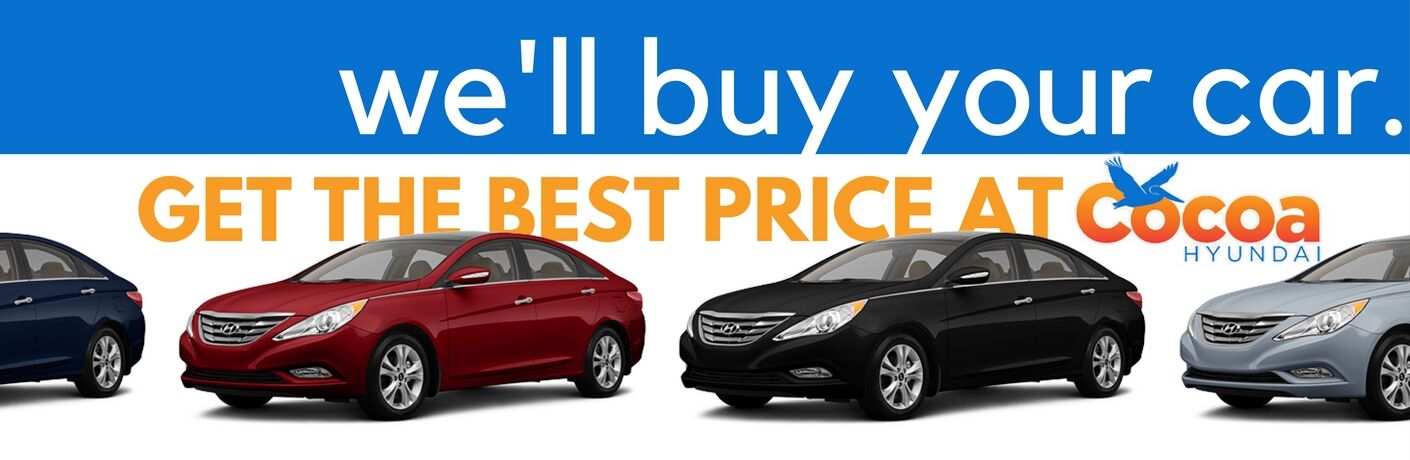 We'll Buy Your Car - Get the Best Price at Cocoa Hyundai - Four Different Colored Sonata Models
