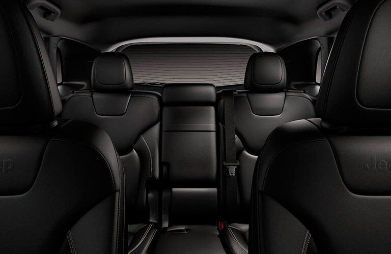 Rear interior of the 2016 Jeep Cherokee from the front