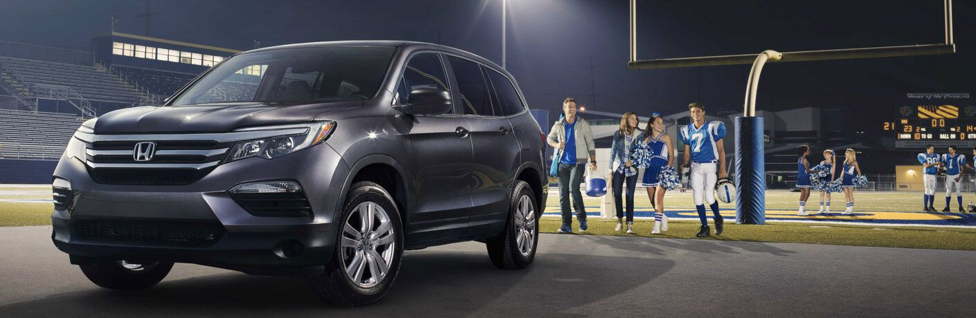 2016 Honda Pilot on a football field