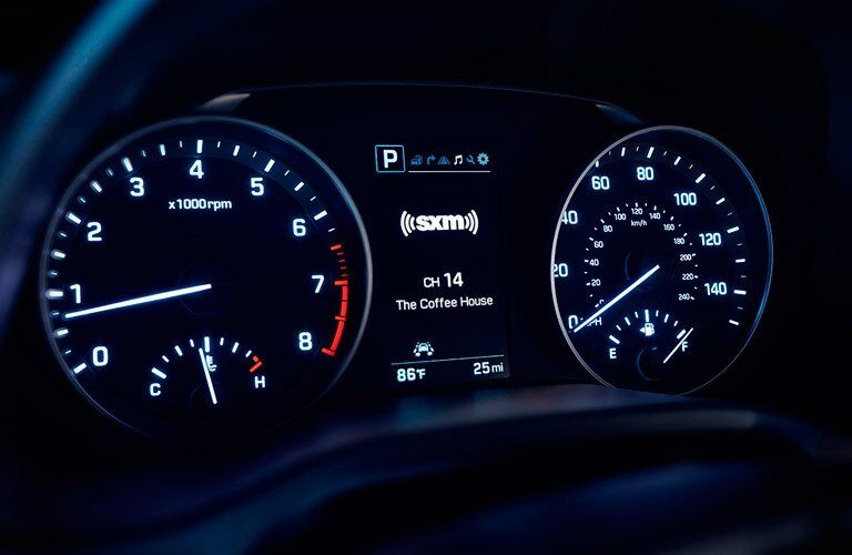 2017 Hyundai Elantra speedometer