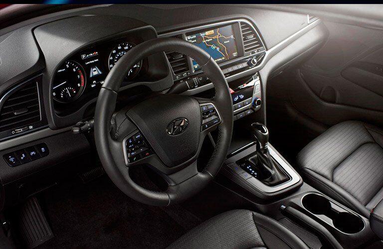2017 Hyundai Elantra dashboard layout