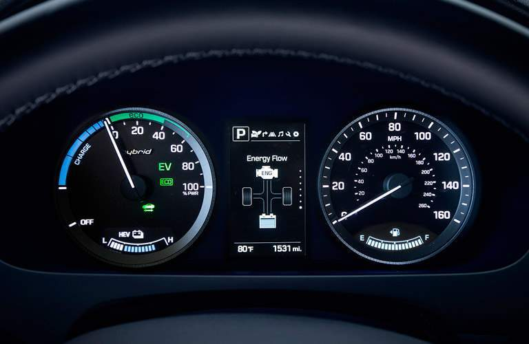 2017 Hyundai Sonata Hybrid instrument cluster functions features