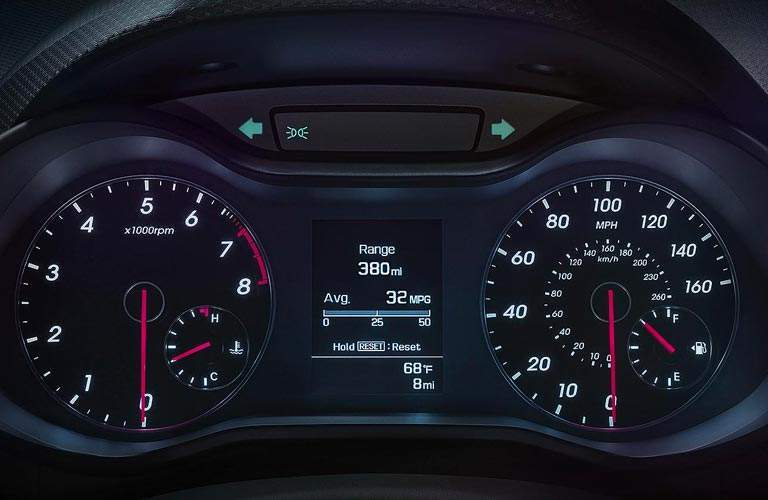 2017 Hyundai Veloster driver information display